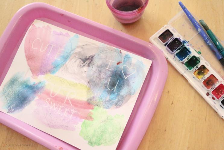 watercolor conversation hearts