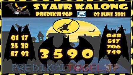Syair Kalong SGP Kamis 03-Jun-2021