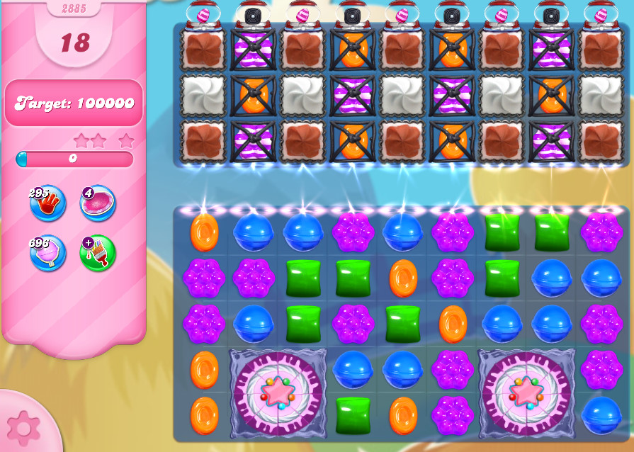 Candy Crush Saga level 2885