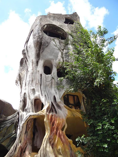 The exterior of the Crazy House in Da Lat, Vietnam