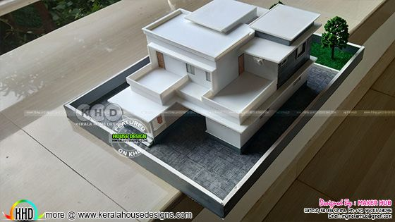 3D Printed house top side elevation