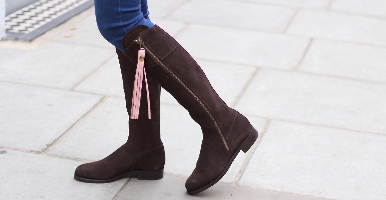 peexo fairfax & favor pink tassel boots