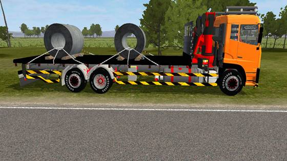 download mod bussid truck nissan ud quester dan mercy axor dump by mtsa team