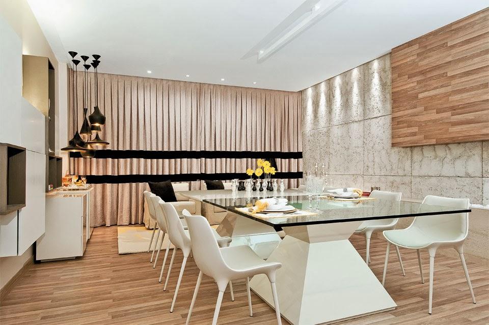 Sala De Jantar Inox E Vidro ~ Salas de jantar50 modelos maravilhosos e dicas de como decorar