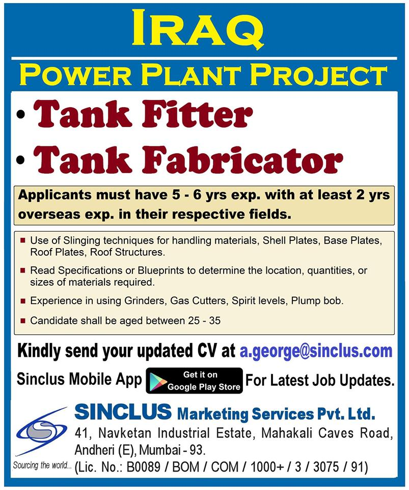 IRAQ POWER PLANT PROJECT CV SELECTION