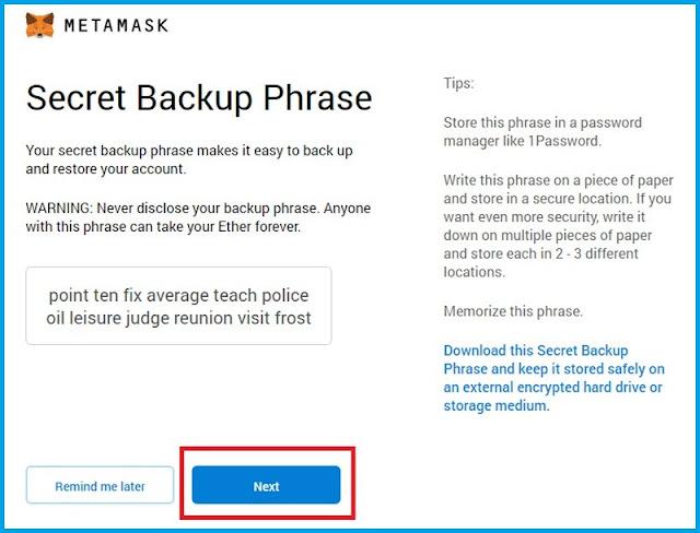 كيفية إنشاء حساب في محفظة  MetaMask