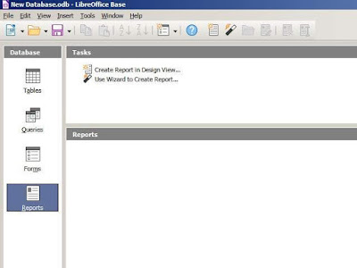 tampilan LibreOffice Base