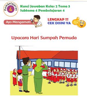 Kunci Jawaban Kelas 2 Tema 3 Subtema 4 Pembelajaran 4 www.simplenews.me