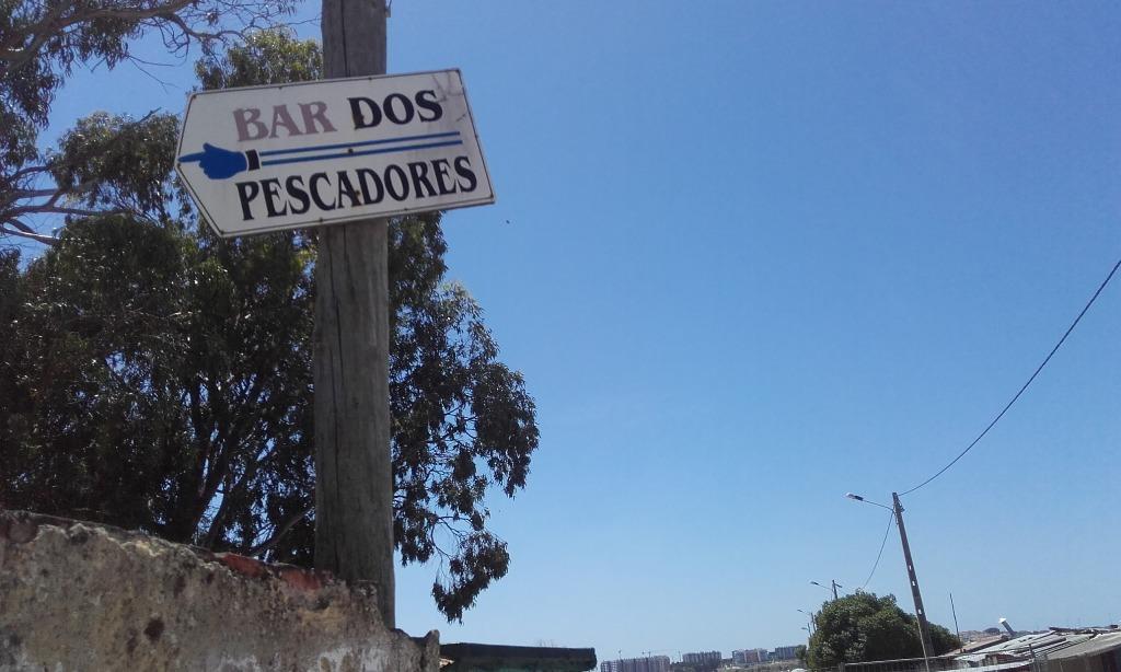 Placa do bar dos Pescadores