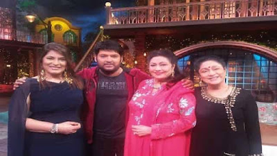 Aruna Irani and Bindu in the Kapil Sharma Show