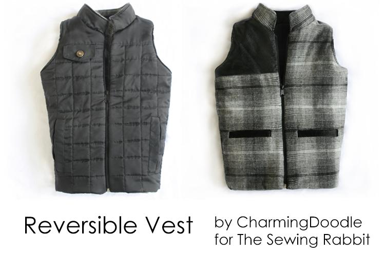 Reversible Vest  ||  #SewingRabbitFallCollection  ||  Flap Pocket DIY