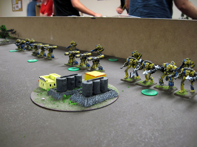 My Knights perpare to face off against the whiniest Archon in the known galaxy.
