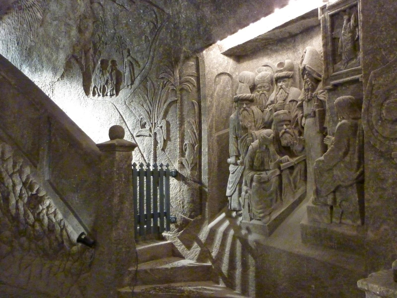 Rilievo intagliato nel sale, presente nella chiesa principale di Wieliczka