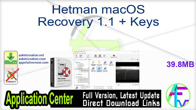 Hetman macOS Recovery 1.1 + Keys