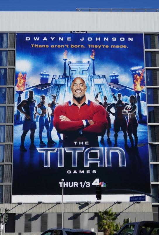 Titan Games series premiere billboard