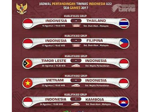 Jadwal pertandingan Timnas Indonesia di Sea Games 2017