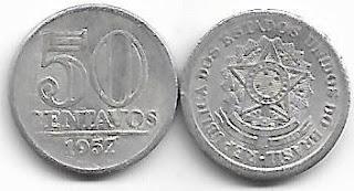 50 centavos, 1957