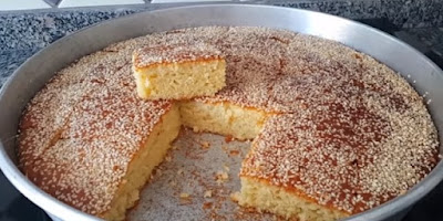 كعكة الصينية التركية بالسمسم