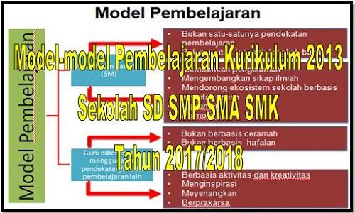 Model-model Pembelajaran Kurikulum 2013 Sekolah SD SMP SMA SMK Tahun 2017/2018