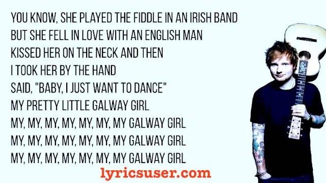 Galway Girl lyrics: ED Sheeran