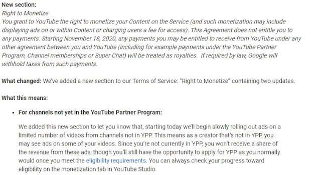 YouTube will run ads on smaller creators' videos without paying them
