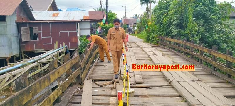 DPU Gumas Segera Upayakan Perbaikan di Jembatan Sei Kahat