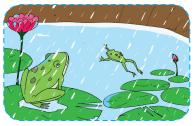 Katak bernyanyi lagu turunnya hujan dengan gembira www.jokowidodo-marufamin.com