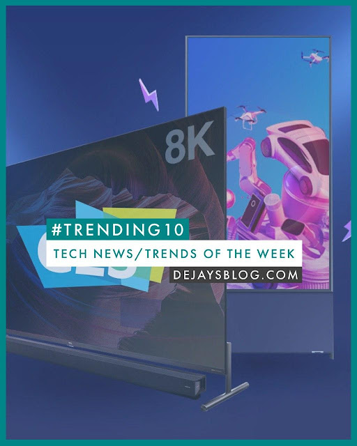 #Trending10 - Top 10 tech news / trends of the week #2 January 2020)