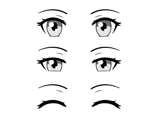 Mata anime menyipit