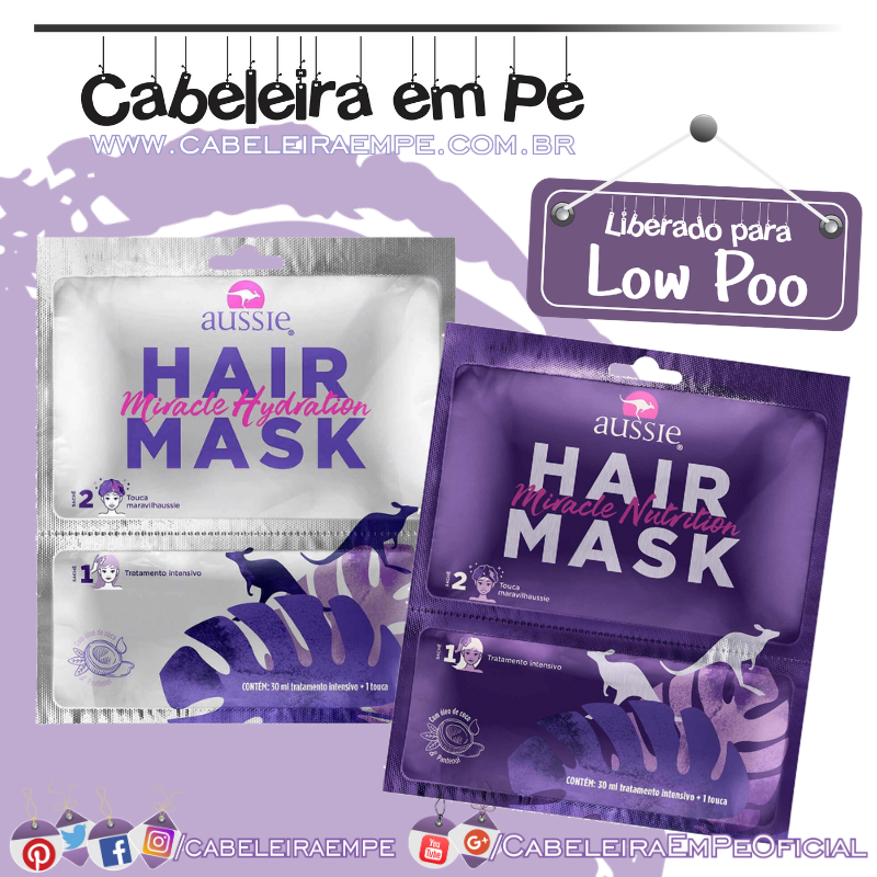 Hair Mask + Touca - Aussie (Low Poo)