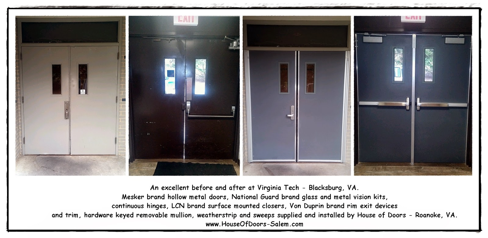 Commercial doors frames and hardware correctly supplied and impeccably installed by House of Doors - Roanoke VA & doors frames and hardware correctly supplied and impeccably ... pezcame.com