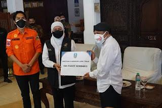 500 Bantuan Paket Sembako Dari Pemprov Jatim  Untuk Seniman/ Seniwati Mataraman