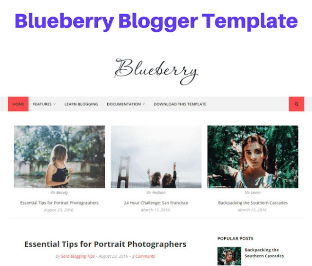 blueberry blogger template, bootstrap blogger templates free download, bootstrap