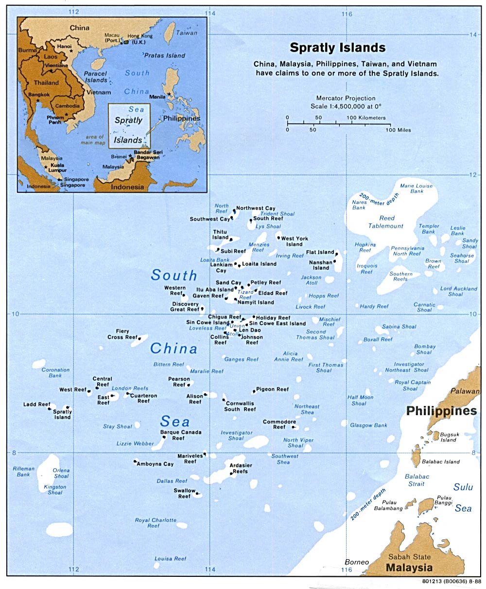 Paracel And Spratly Islands Map