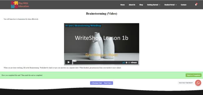 WriteShop I Video Course