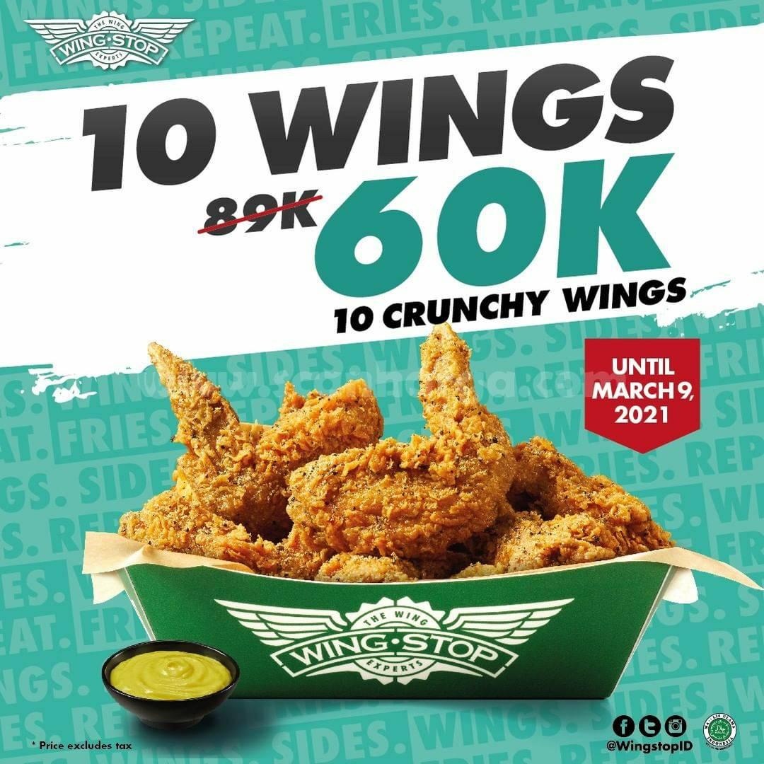 WINGSTOP Promo 10 Crunchy Wings harga hanya 60K