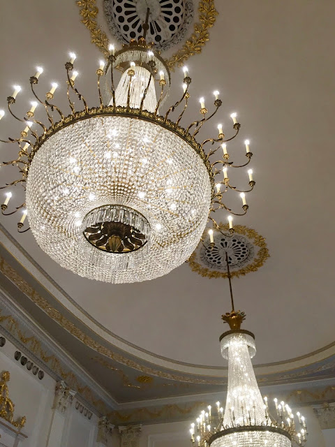 Chandeliers in the Ballroom, Assembly Rooms, Edinburgh