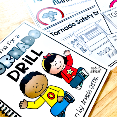 Tornado safety drills and procedures are important skills to practice during the first few weeks of school. This pack contains easy to implement activities and read alouds to make it so much easier!