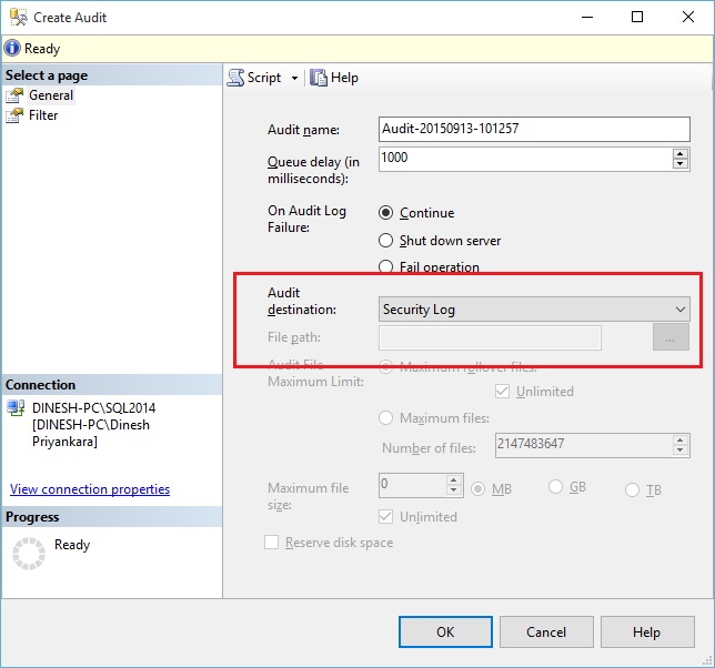 Error Log: Dinesh's Blog :::: Being Compiled ::::: How To Enable SQL