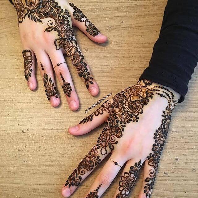 easy arabic mehndi designs for left hand