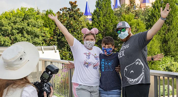 Fotógrafo en Disney World.