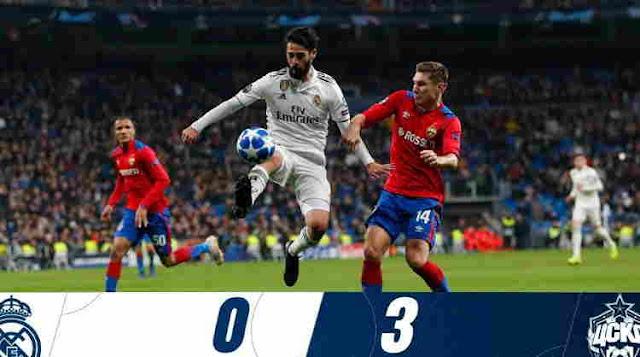 Real Madrid vs CSKA Moscow Cuplikan Gol Skor 0:3
