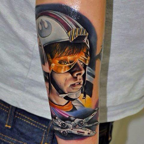 arm sleeve tatoo luke skywalker