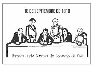 colorear de la Primera Junta Nacional de Gobierno de Chile