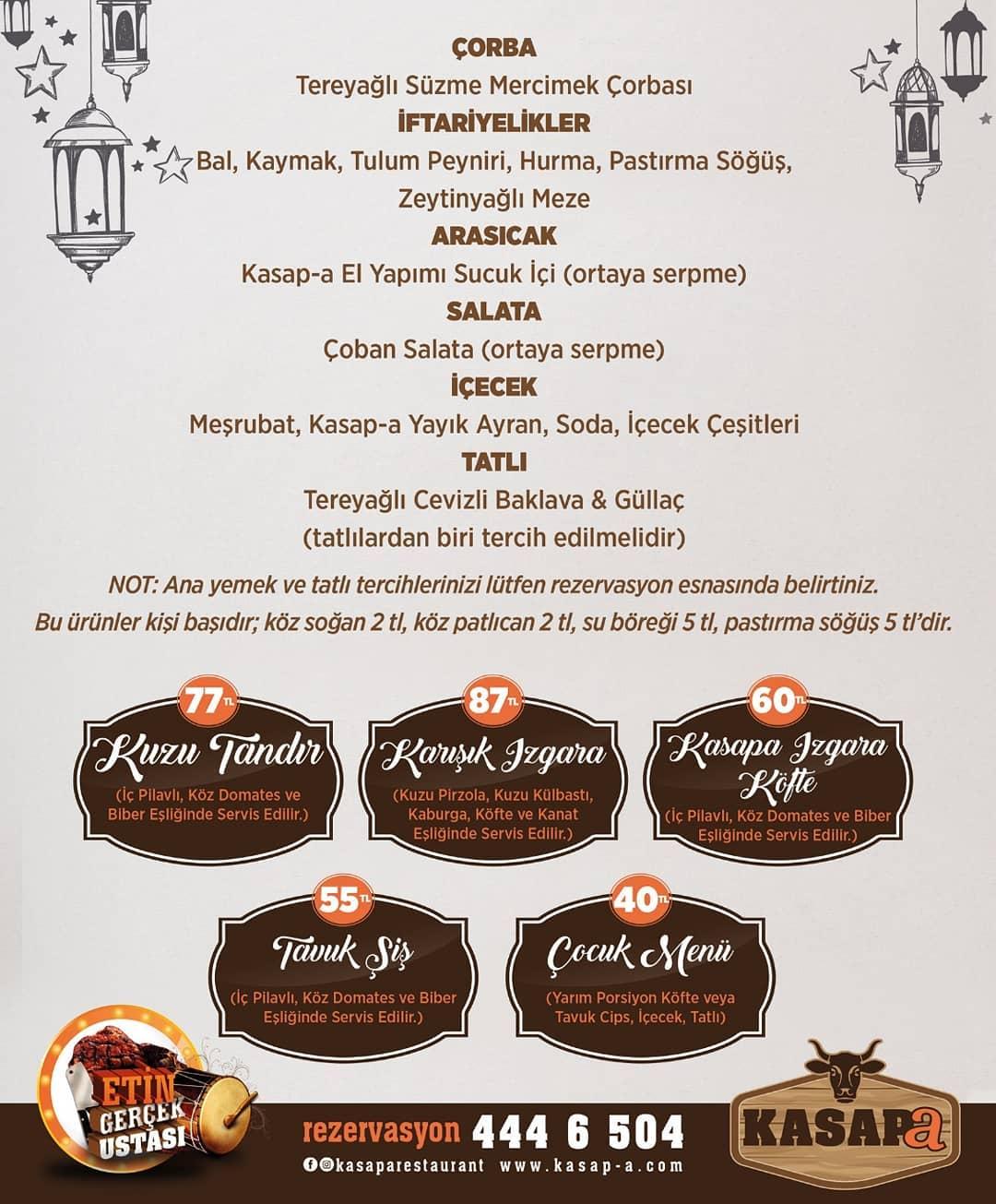 kasap-a restoran kayseri iftar menü kayseri iftar mekanları
