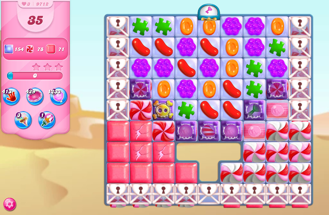 Candy Crush Saga level 9712