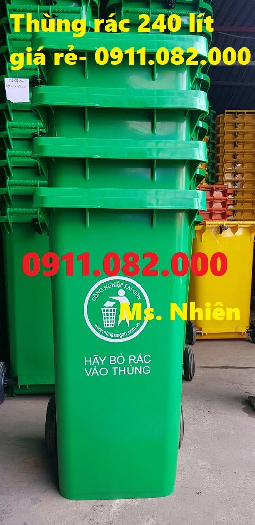 Cung cấp thùng rác 240 lít giá rẻ tại cần thơ- lh 0911082000- nhiên