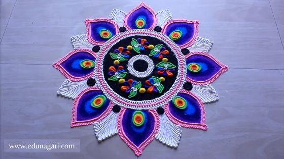 Diwali rangoli easy