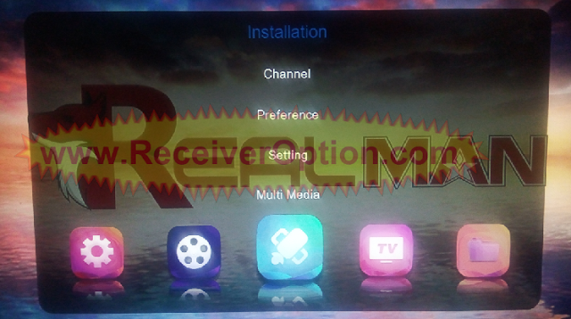 REAL MAN 8080 1506TV 512 4M NEW SOFTWARE WITH ECAST OPTION