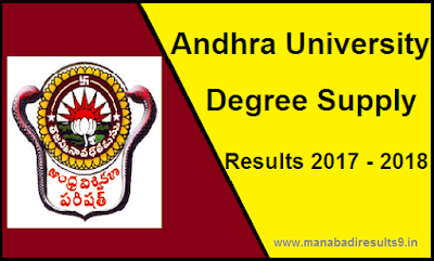 Manabadi AU Degree Supply Results 2017 – 2018